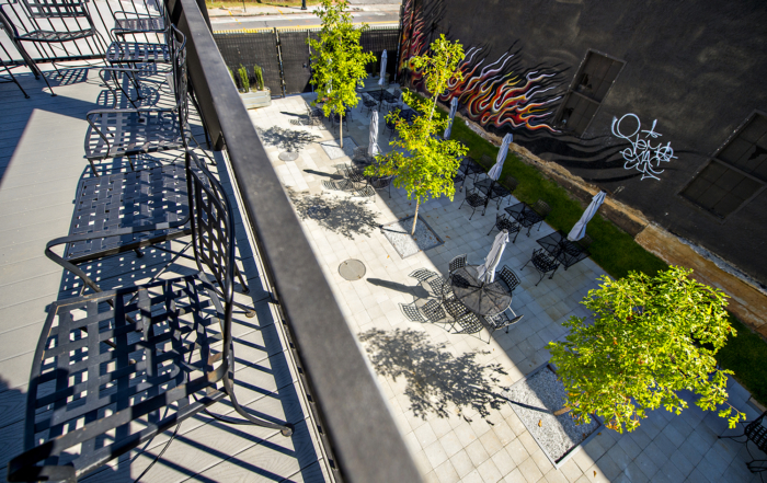 Atlanta Production Properties Patio From Above